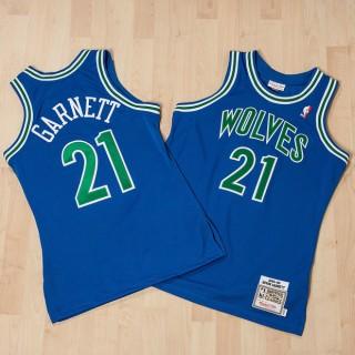 Oficiales Camiseta auténtica de la 2ª equipación Minnesota Timberwolves Kevin Garnett 1995-96 de Mitchell & Ness