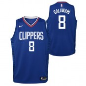 Danilo Gallinari - Adolescentes Los Angeles Clippers Nike Icon Swingman Camiseta de la NBA Ventas Baratas Oviedo