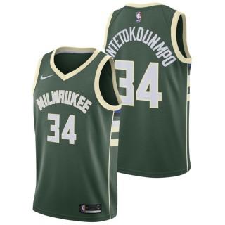 Giannis Antetokounmpo - Hombre Milwaukee Bucks Nike Icon Swingman Camiseta de la NBA Madrid Precio de Descuento