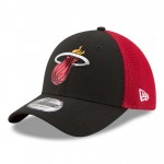 Gorra Miami Heat New Era 2017 Official On-Court 39THIRTY Stretch Fit Cap Oficiales