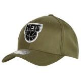 Compra Gorra New Camiseta Nets Hardwood Classics Olive Team Logo Snapback Cap a Precios Bajos