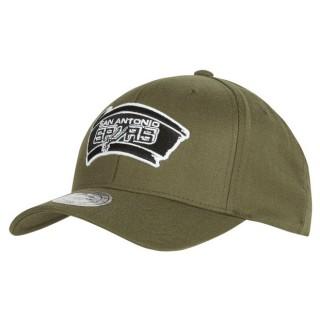 Gorra San Antonio Spurs Hardwood Classics Olive Team Logo Snapback Cap Outlet Caspe