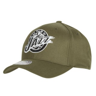 Gorra Utah Jazz Hardwood Classics Olive Team Logo Snapback Cap Barcelona