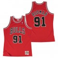 Hombre Chicago Bulls Dennis Rodman Hardwood Classics Road Swingman Camiseta Venta Barata