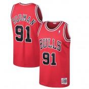 Hombre Chicago Bulls Dennis Rodman Mitchell & Ness Rojo 1997-98 Hardwood Classics Swingman Camiseta Madrid Precio de Descuento
