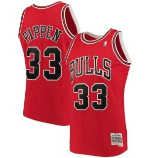 Hombre Chicago Bulls Scottie Pippen Mitchell & Ness Rojo 1997-98 Hardwood Classics Swingman Camiseta Baratas Outlet