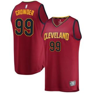 Hombre Cleveland Cavaliers Jae Crowder Fanatics Branded GranateFast Break Player Camiseta Oficiales