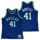 Hombre Dallas Mavericks Dirk Nowitzki #41 Hardwood Classics Road Swingman Camiseta Tienda ES