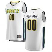 Hombre Denver Nuggets Fanatics Branded Blanco Fast Break Camiseta Personalizada al Mejor Precio