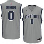 Hombre Detroit Pistons Andre Drummond Gris Camiseta de baloncesto Venta