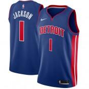 Hombre Detroit Pistons Reggie Jackson Azul Swingman Camiseta Precio