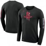 Hombre Houston Rockets Negro Logo Manga larga T-Shirt Barcelona