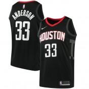 Hombre Houston Rockets Ryan Anderson Negro Swingman Camiseta Statement Edition Descuento