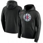 Hombre LA Clippers Negro Logo Club Capucha en línea