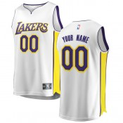 Hombre Los Angeles Lakers Fanatics Branded Blanco Fast Break Camiseta Personalizada Venta Al Por Mayor