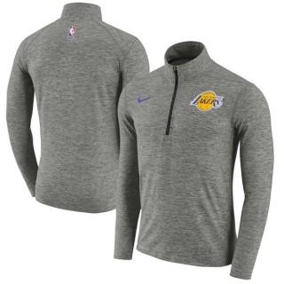 Hombre Los Angeles Lakers Gris Element Quarter-Zip Chaqueta Promoción