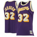 Hombre Los Angeles Lakers Magic Johnson Mitchell & Ness Púrpura 1984-85 Hardwood Classics Swingman Camiseta Tienda