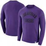 Original Hombre Los Angeles Lakers Púrpura Modern Crew Sweatshirt