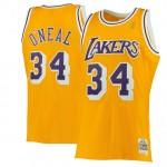 Hombre Los Angeles Lakers Shaquille O Neal Mitchell & Ness Gold 1996-97 Hardwood Classics Swingman Camiseta Bajo Precio