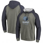 Hombre Memphis Grizzlies Fanatics Branded Ash/Armada Distressed Logo Tri-Blend Sudadera con capucha Madrid Online