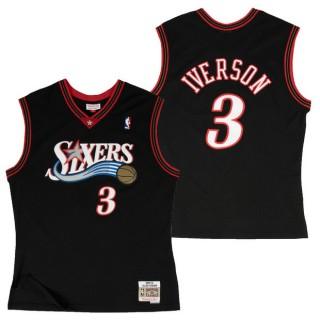 Hombre Philadelphia 76ers Allen Iverson Hardwood Classics Road Swingman Camiseta Dinero en menos