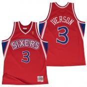 Hombre Philadelphia 76ers Allen Iverson Hardwood Classics Road Swingman Camiseta Baratas en línea