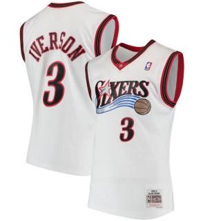 Hombre Philadelphia 76ers Allen Iverson Mitchell & Ness Blanco 2000-01 Hardwood Classics Swingman Camiseta Shop España
