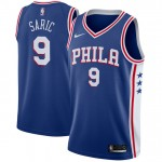 Hombre Philadelphia 76ers Dario Saric Azul Swingman Camiseta Baratas Online