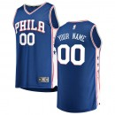 Hombre Philadelphia 76ers Fanatics Branded Royal Fast Break Camiseta Personalizada Venta a Precios Más Bajos