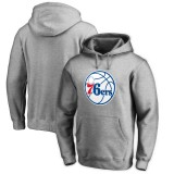 Comprar Hombre Philadelphia 76ers Heathered Gris Primary Logo II Sudadera con capucha