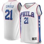 Rebajas en Hombre Philadelphia 76ers Joel Embiid #21 Fanatics Branded Blanco Fast Break Camiseta Madrid