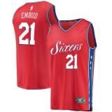 Hombre Philadelphia 76ers Joel Embiid #21 Fanatics Branded Rojo Fast Break Camiseta Baratas Outlet