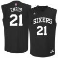 Hombre Philadelphia 76ers Joel Embiid #21 Negro Chase Fashion Camiseta Outlet España