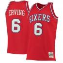 Oficiales Hombre Philadelphia 76ers Julius Erving Mitchell & Ness Rojo 1982-83 Hardwood Classics Swingman Camiseta
