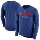 Hombre Philadelphia 76ers Royal Practice Fleece Sudadera Performance Baratas Originales