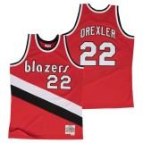 Hombre Portland Trail Blazers Clyde Drexler Hardwood Classics Road Swingman Camiseta Nuevo