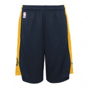 Indiana Pacers Nike Practise Pantalones cortos - College Navy/Amarillo - Adolescentes Venta a Precios Más Bajos