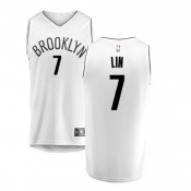 Jeremy Lin #7 Brooklyn Nets Blanco Camiseta Baratas España