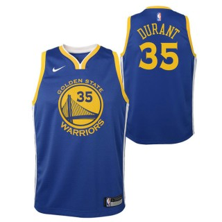 Kevin Durant #35 - Adolescentes Golden State Warriors Nike Icon Swingman Camiseta de la NBA Baratas Online