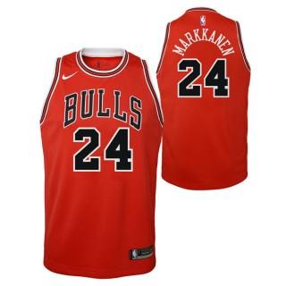 Lauri Markkanen - Adolescentes Chicago Bulls Nike Icon Swingman Camiseta de la NBA Baratos