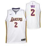 Lonzo Ball #2 - Adolescentes Los Angeles Lakers Nike Icon Swingman Camiseta de la NBA Baratas Outlet