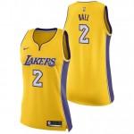 Oficiales Lonzo Ball #2 Mujer Los Angeles Lakers Nike Association Swingman Camiseta de la NBA