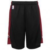 Miami Heat Nike Practise Pantalones cortos - Negro/Tough Rojo - Adolescentes Baratas