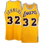 "Mitchell & Ness Earvin ""Magic"" Johnson Los Angeles Lakers Hardwood Classics Authentic Throwback Home Camiseta - Oro Baratas Precio"