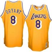 Mitchell & Ness Kobe Bryant Los Angeles Lakers 1996-1997 Hardwood Classics Throwback Authentic Home Camiseta - Oro Precio De Descuento