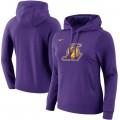 Mujer Los Angeles Lakers Púrpura Primary Logo Sudadera con capucha Oficiales