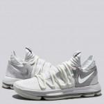 Nike Zoom KD 10 Zapatilla de Baloncesto - Blanco/Chrome-Pure Platinum - Hombre Nuevo
