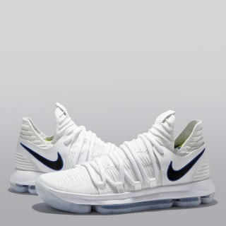 Nike Zoom KD10 Zapatilla de Baloncesto - Blanco/Game Royal-University Gold - Hombre Madrid Online