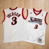 Compra Philadelphia 76ers Allen Iverson All-Star 2001 Home Authentic Camiseta By Mitchell & Ness a Precios Bajos