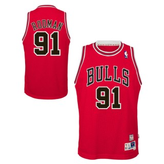 Youth Chicago Bulls Dennis Rodman Hardwood Classics Road Swingman Camiseta Bajo Precio